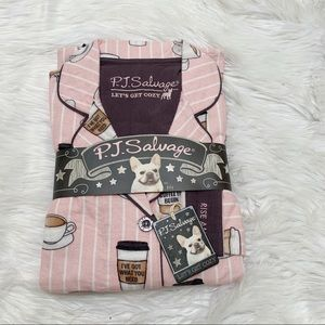 NWT PJ Salvage Rise and Grind Pink Small Pajamas